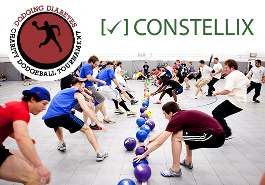 Constellix Dives, Ducks and Dodges Diabetes at the 10th Annual Dodging Diabetes Charity Dodgeball Tournament