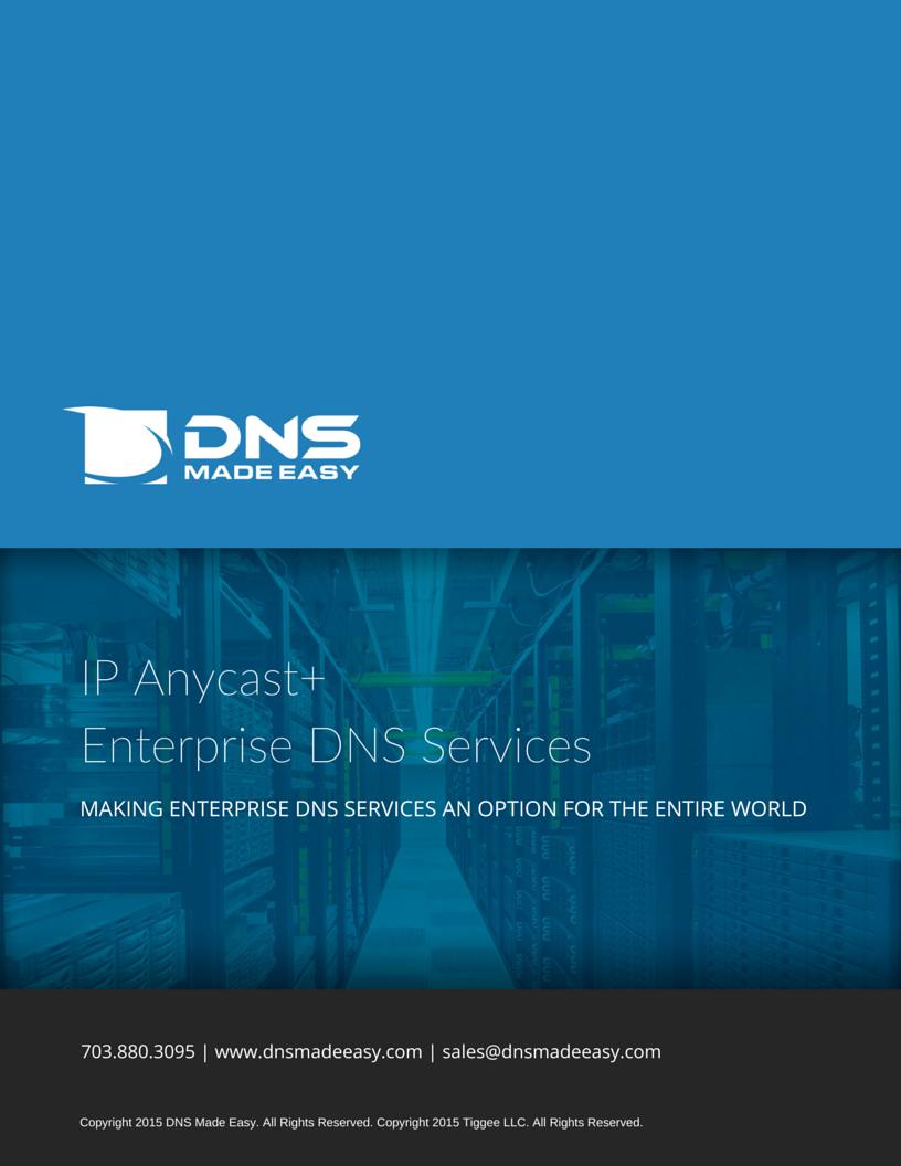 DNS Made Easy Sales Brochure