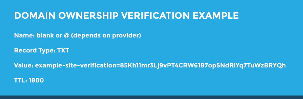 domain ownership verification example