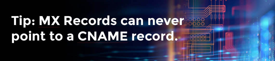DNS Tip: MX records can never point to a CNAME record